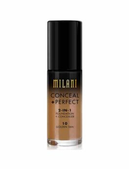 Milani Conceal+Perfect 2 In 1 Foundation - 10 Golden Tan in Carnesia